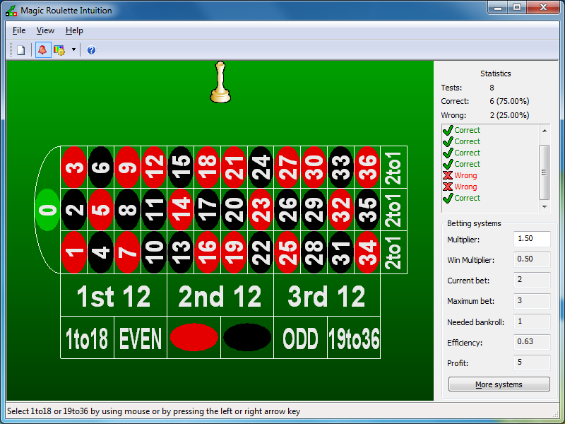 Intuition development software designed to develop intuition to win at roulette quick Screen Shot